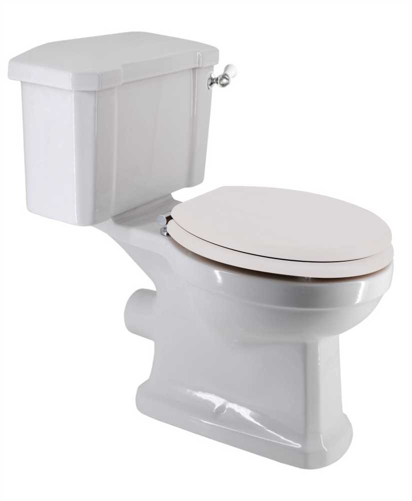 Sussex Traditional Close Coupled Toilet & White MDF Soft Close Seat
