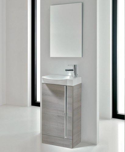 Bern 45 cm Sandy Grey Vanity Floor Standing Pack with Mirror
