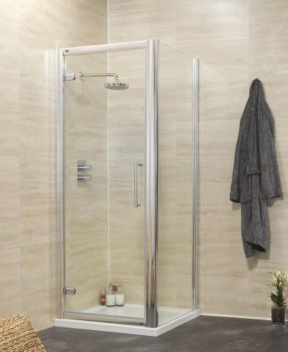 Rival 8mm 900 x 760 Hinge Shower Door
