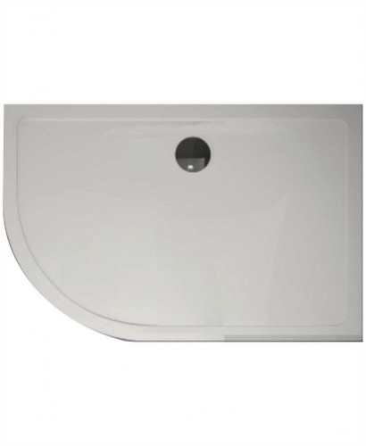 The Plane 25 mm 1200X900 Offset Quadrant LH Slimline Shower Tray And Free 90 mm Waste