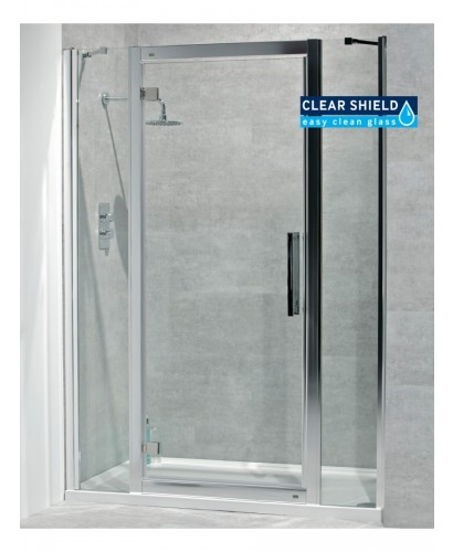 Avante 8mm 1400 x 800 Hinged Shower Door with Double Infill Panel