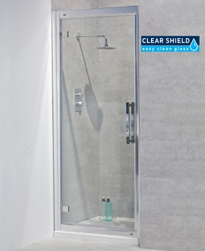 Avante 8mm 900 Hinged Shower Door - Adjustment 840-900mm