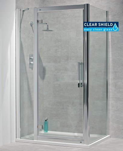 Avante 8mm 1200 x 700 Hinged Shower Door with Single Infill Panel