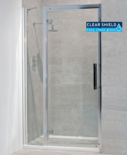 Avante 8mm 1000mm Hinged Shower Door and Single Infill Panel - Adjustment 940-1000mm