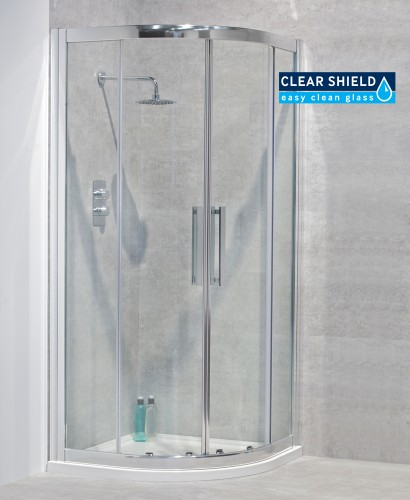 Avante 8mm 900 Quadrant Double Shower Door - Adjustment 850-880mm