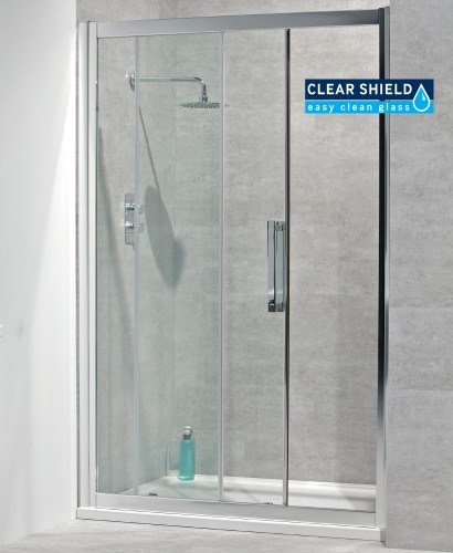 Avante 8mm 1400 Sliding Shower Door - Adjustment 1340-1400mm