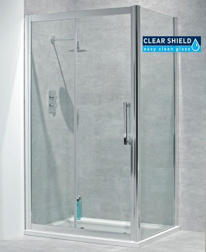 Avante 8mm 1200 x 900 sliding shower door for 1200 shower door