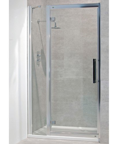 Avante 8mm 1300mm Hinged Shower Door and Single Infill Panel - Adjustment 1240-1300mm