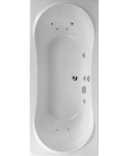Bromley 1800x800 Double Ended 12 Jet Whirlpool Bath