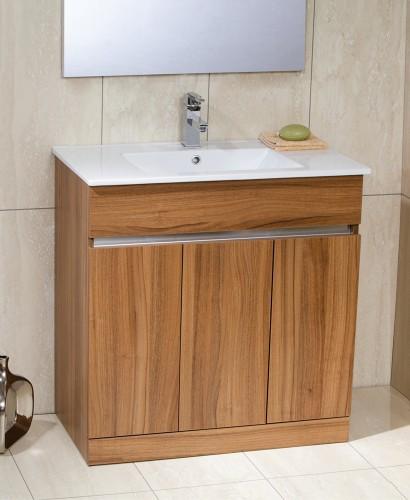 Attica Walnut 80cm Vanity Unit & Totano Washbasin