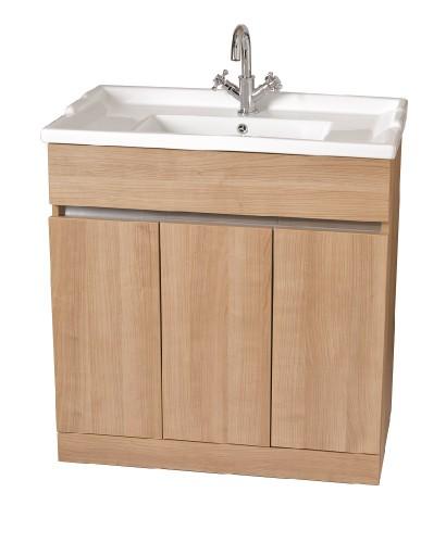 Attica Oak 80cm Vanity Unit & Vitaria Washbasin