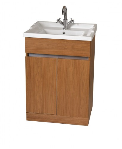 Attica Walnut 60cm Vanity Unit & Vitaria Washbasin