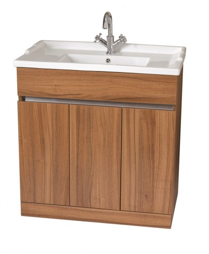 Attica Walnut 80cm Vanity Unit & Vitaria Washbasin