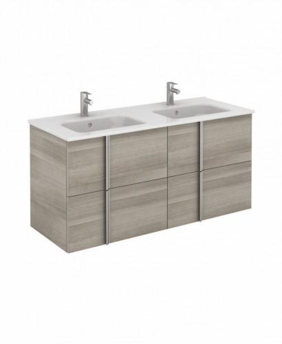 Athena 120cm Sandy Grey Double Vanity Unit with SLIM Basin -  Drawers