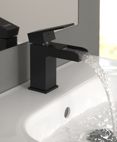 Butler Black Basin Mixer with FREE Click Clack Basin Waste - *FURTHER REDUCTIONS