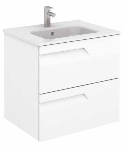 Pravia White 60 cm Wall Hung Vanity Unit and SLIM Basin** an extra 10% off with code EASTER10