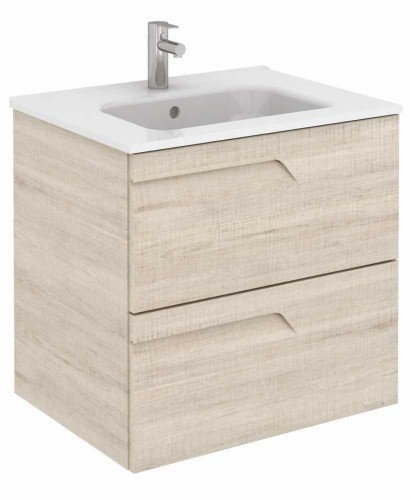 Pravia Maple 60 cm Wall Hung Vanity Unit and SLIM Basin