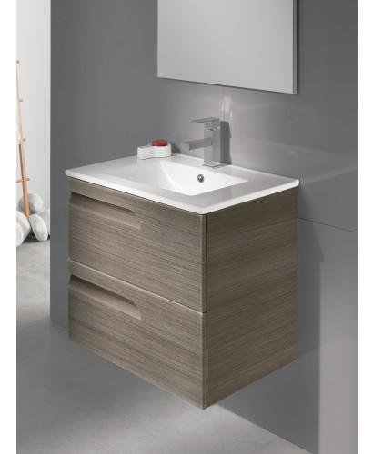Pravia Ash 60cm Vanity Unit 2 Drawer and Basin