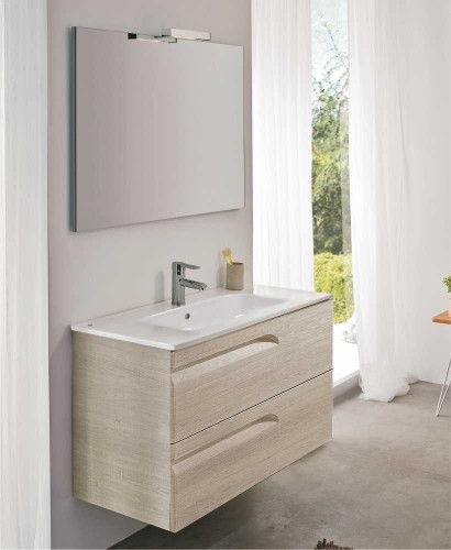 Home Pravia Maple 60 cm Wall Hung Vanity Unit and SLIM Basin