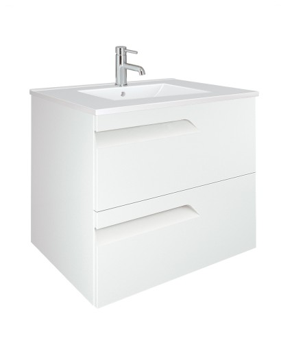 Pravia White 60cm Vanity Unit 2 Drawer and Basin