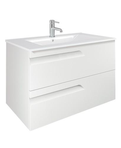 Pravia White 80cm Vanity Unit 2 Drawer and Basin