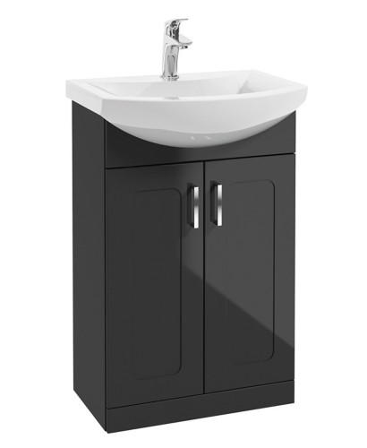 Barna 55cm Graphite Vanity Unit & Basin