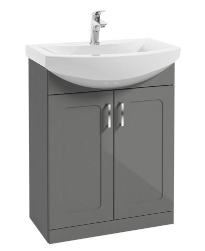 Barna 65cm Steel Grey Vanity Unit & Basin