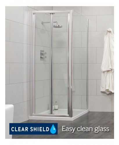 Cello 900 x 760mm Bifold Shower Door - - includes 760 mm side panel