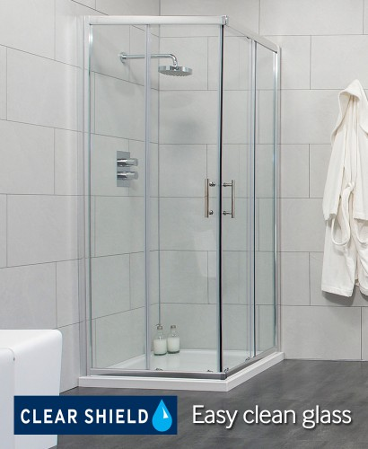 Cello 760 Corner Entry Shower Enclosure - Adjustment 725-750mm  - Over 50% Off Special Offer