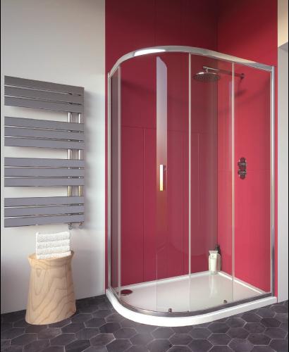 Cello Plus 1000 x 800 Offset Quadrant Single Door, Adjustment 965 - 990mm, 765-790mm