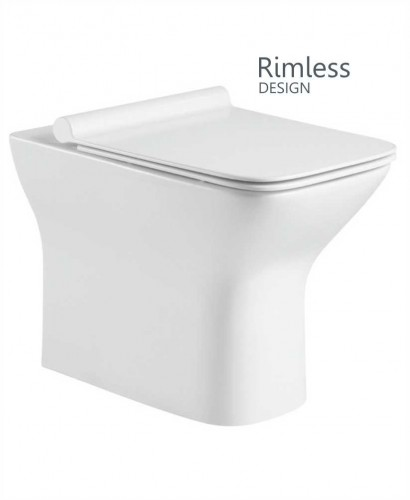 Clara Back to Wall Rimless WC with Quick Release Soft Closing SLIM Seat
