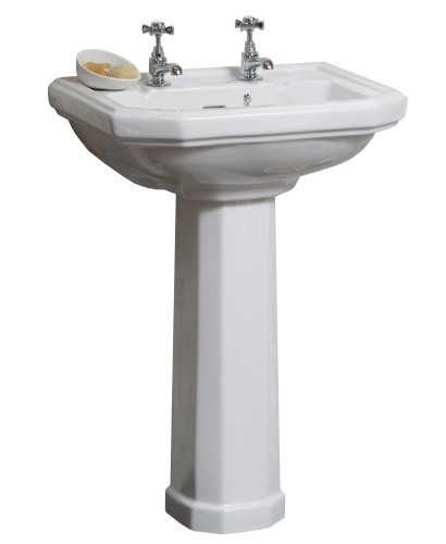 Traditional Wash Basins Clarice 58cm Basin Pedestal 2th