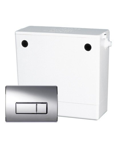 Dual Flush Concealed Cistern Chrome
