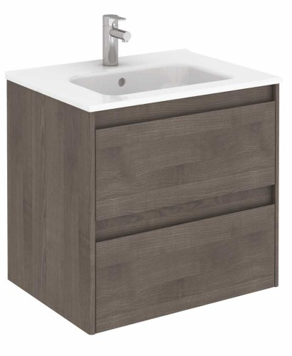 Vichy Ash 60 cm Wall Hung Vanity Unit and Slim Basin