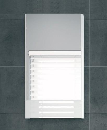 Twyford E100 White Mirror Cabinet - 493mm