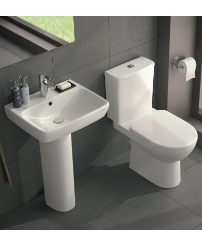 Toilet And Wash Basin Sets Twyford E100 Square Toilet And Wash Basin Set