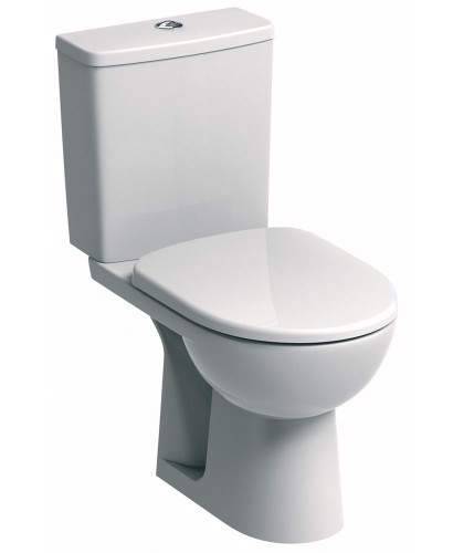 Twyford E100 Square Standard Close Coupled Toilet & Standard Seat **FURTHER REDUCTIONS** an extra 10% off with code EASTER10