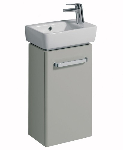 Twyford E200 400 Grey Vanity Unit Wall Hung with RH Tap