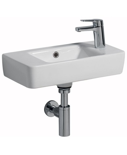 Twyford E200 500 Handrinse Basin - Right Hand Tap, Left Hand Bowl