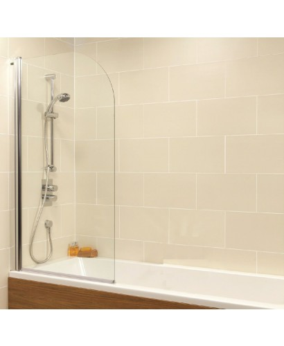 Duo Straight Single Ended 1700x700mm Bath and Shower Screen with 6mm glass - Radius