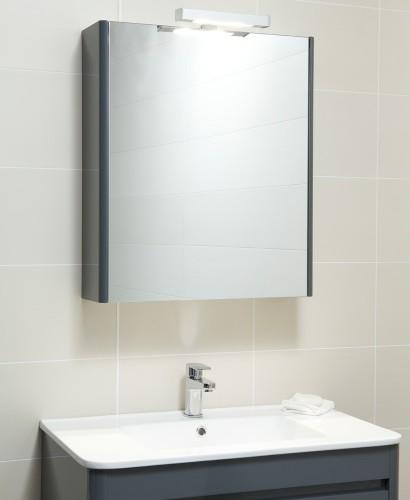 Elora 60 Mirror Cabinet & Light Anthracite