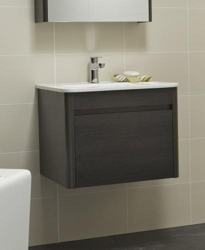 Elora 60cm Dark Wood Vanity Unit and Basin