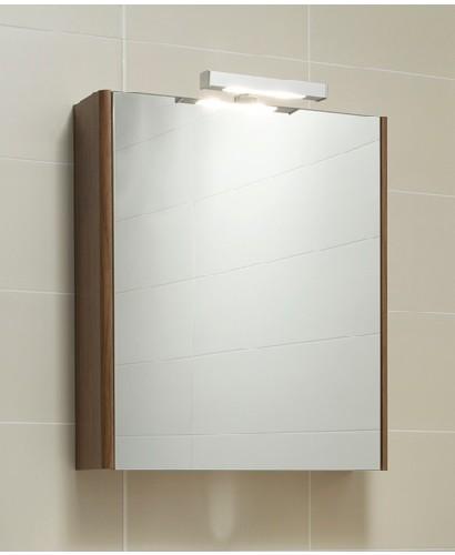 Elora 60 Mirror Cabinet & Light Walnut