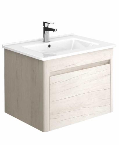 Elora 60cm Light Wood Vanity Unit And Basin