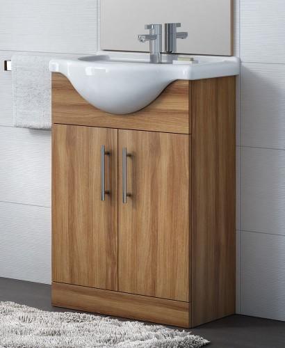 Blanco Walnut 65cm Vanity Unit, Basin