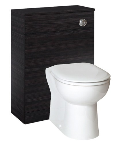 Paola Black  Back to Wall Slimline Unit with Concealed Cistern