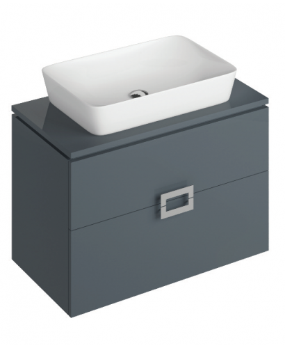 Ava 80cm Base Unit Anthracite  & Enya Basin