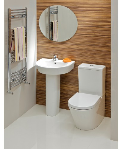 Curvo Toilet And Wash Basin Set
