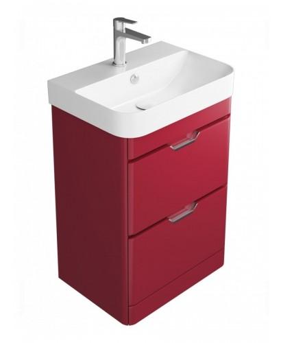 Aquiana Red 48 Floor Standing Vanity Unit - 2 Drawer