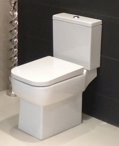 Monza Open Back Close Coupled Toilet & Soft Close Seat